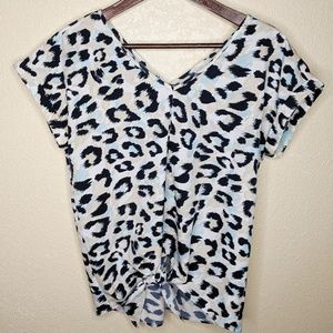Juicy Couture Leopard Shortsleeve Blouse S…